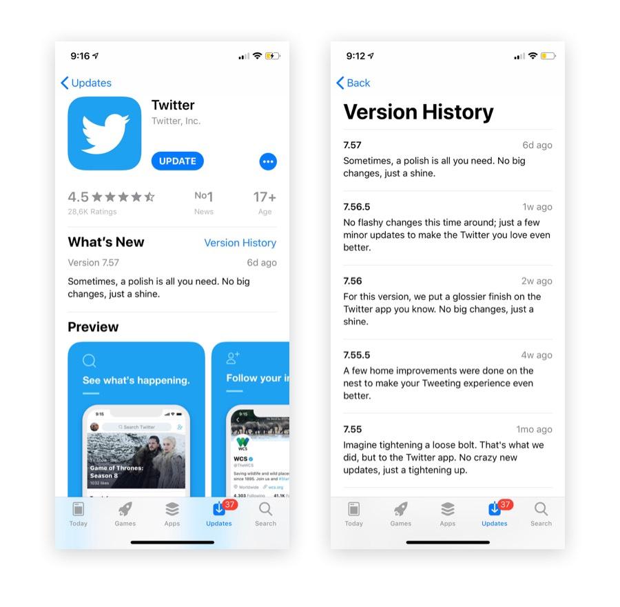 app store SEO: update regularly